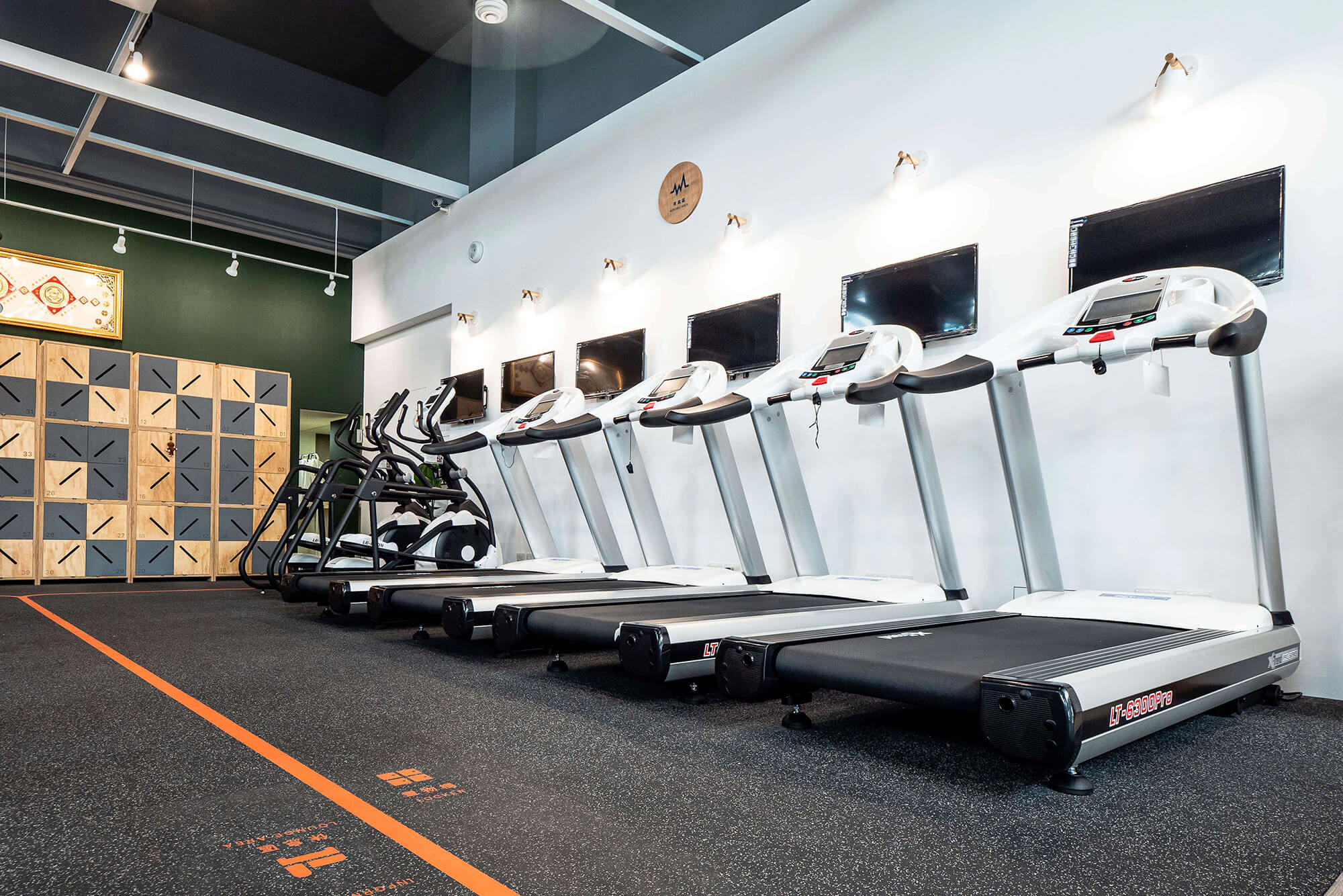 嘉義健身房室內空間設計-有氧運動區|塔索肌力與體能訓練中心
