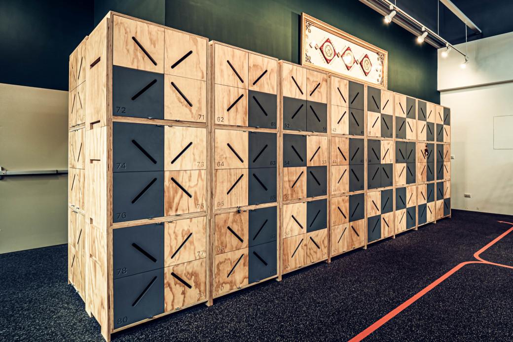 嘉義健身房室內空間設計-置物櫃設計|塔索肌力與體能訓練中心
