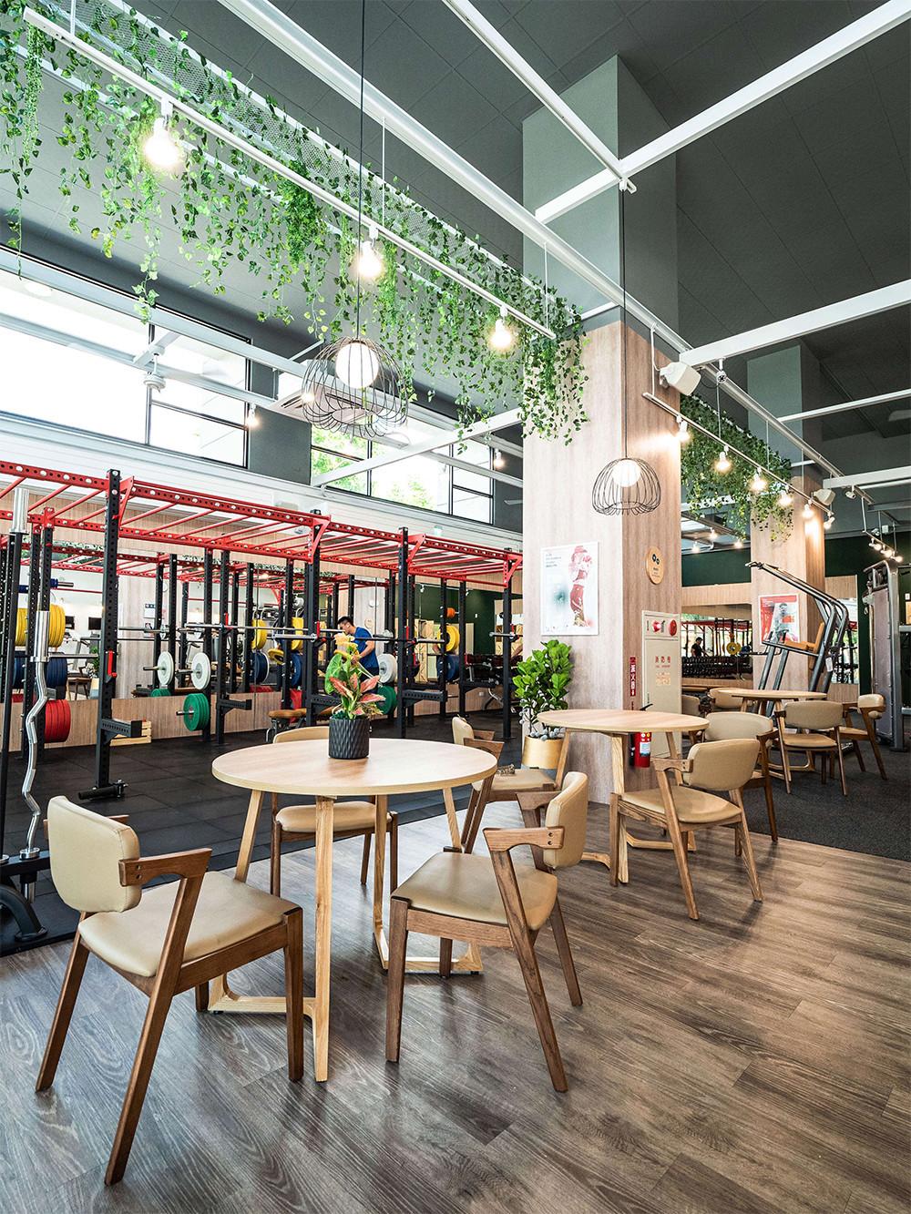 嘉義健身房室內空間設計-TASO休憩區|塔索肌力與體能訓練中心