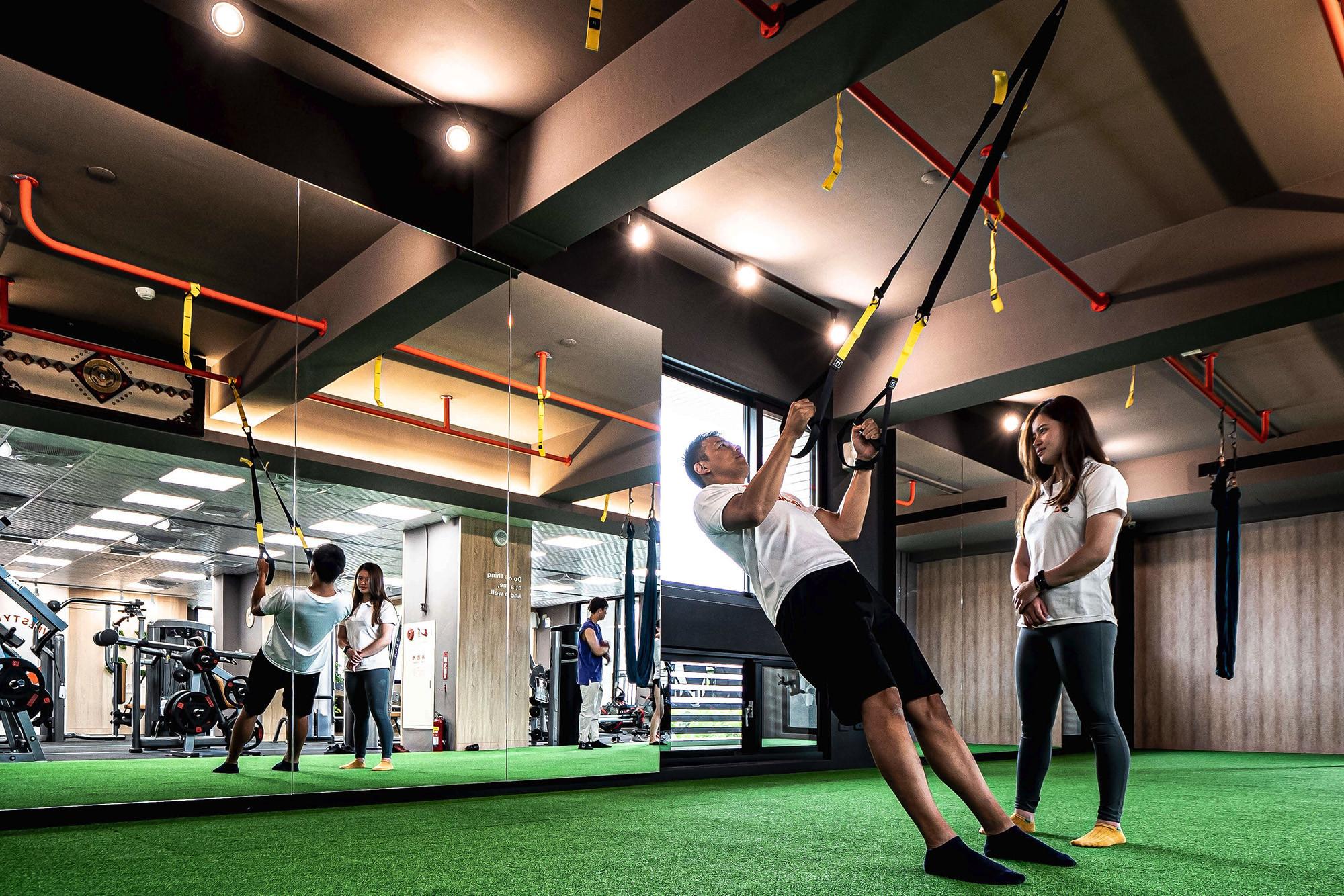 嘉義健身房室內空間設計-TRX懸吊運動環境|塔索肌力與體能訓練中心