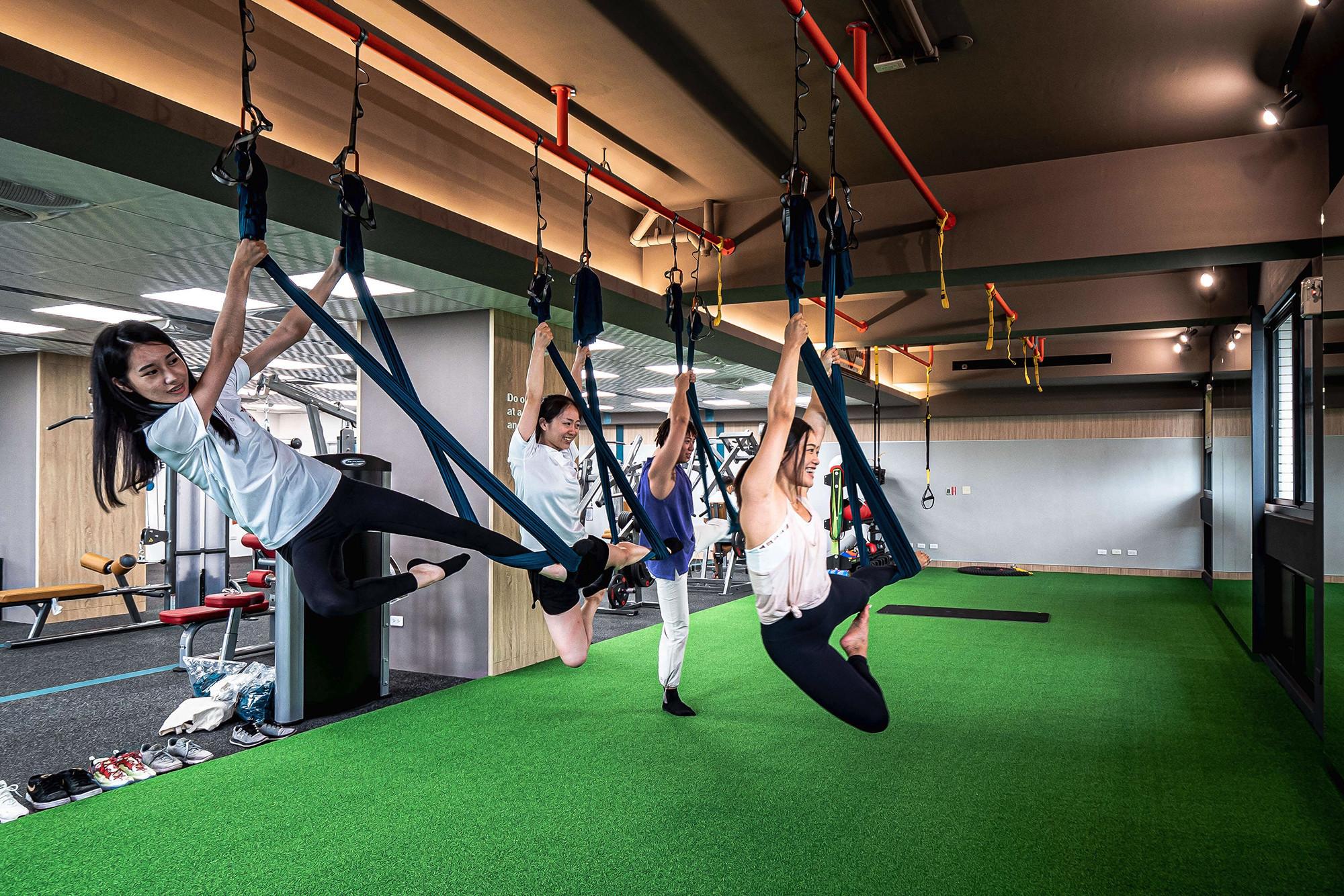 嘉義健身房室內空間設計-TRX訓練區|塔索肌力與體能訓練中心