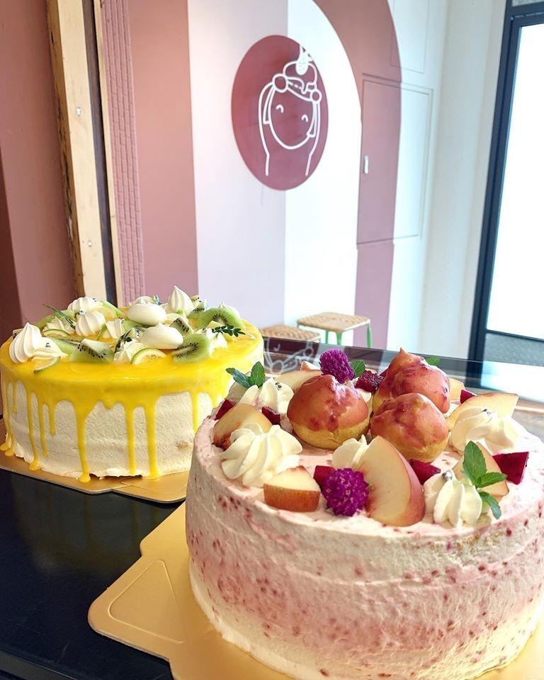 嘉義新港飛茉莉蛋糕|水蜜桃覆盆子蛋糕|檸檬水果蛋糕|嘉義甜點店設計
