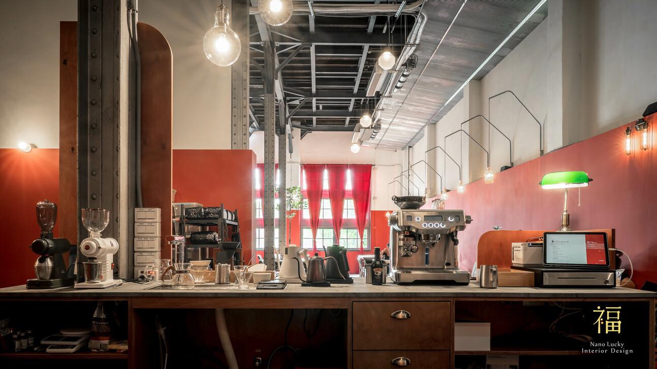 國王蝴蝶秘密基地roicafe咖啡廳-工作吧檯設計|小福砌商業咖啡廳空間設計