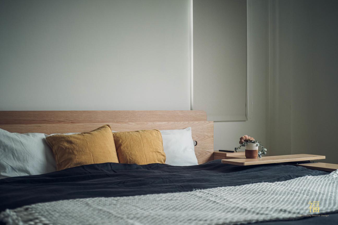 水上敦美|主臥室無印風格床頭櫃|嘉義住宅空間設計