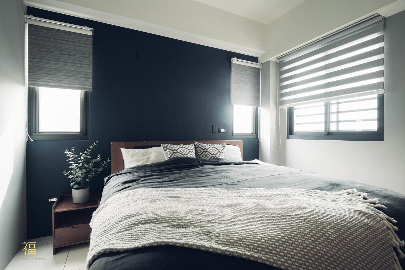 水上敦美|北歐質感主臥室|嘉義住宅空間設計
