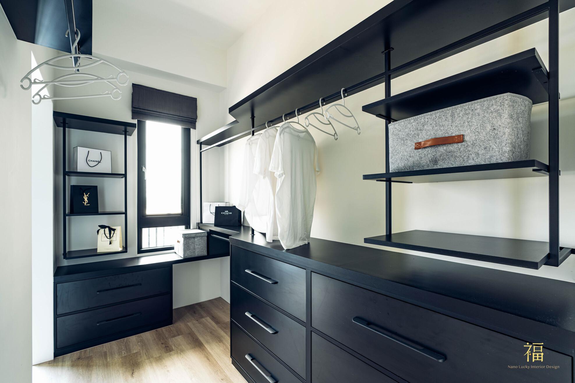 溪口盧宅|主臥室衣帽間|嘉義住宅空間設計