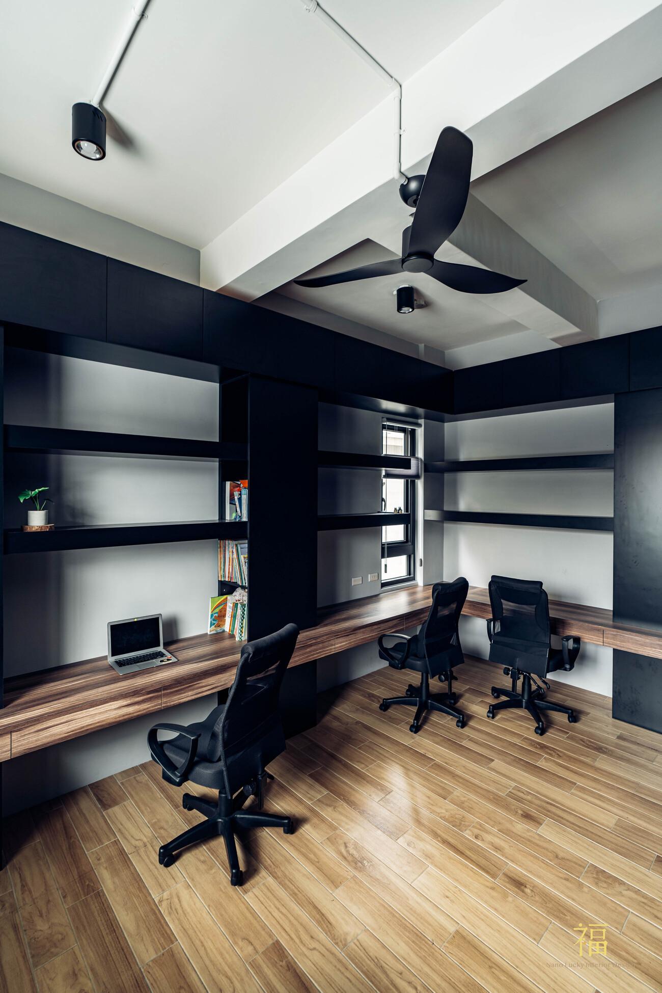 溪口盧宅|書房收納櫃體|嘉義住宅空間設計