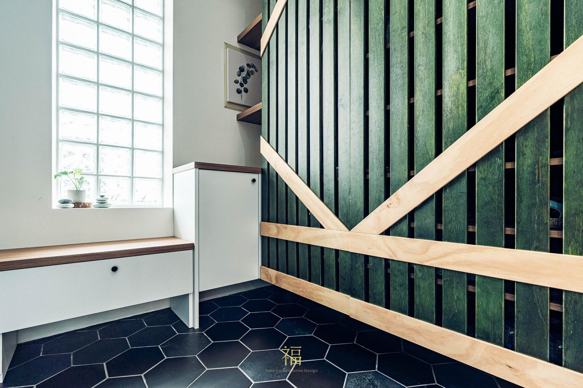 溪口盧宅|玄關櫃體設計|嘉義住宅空間設計