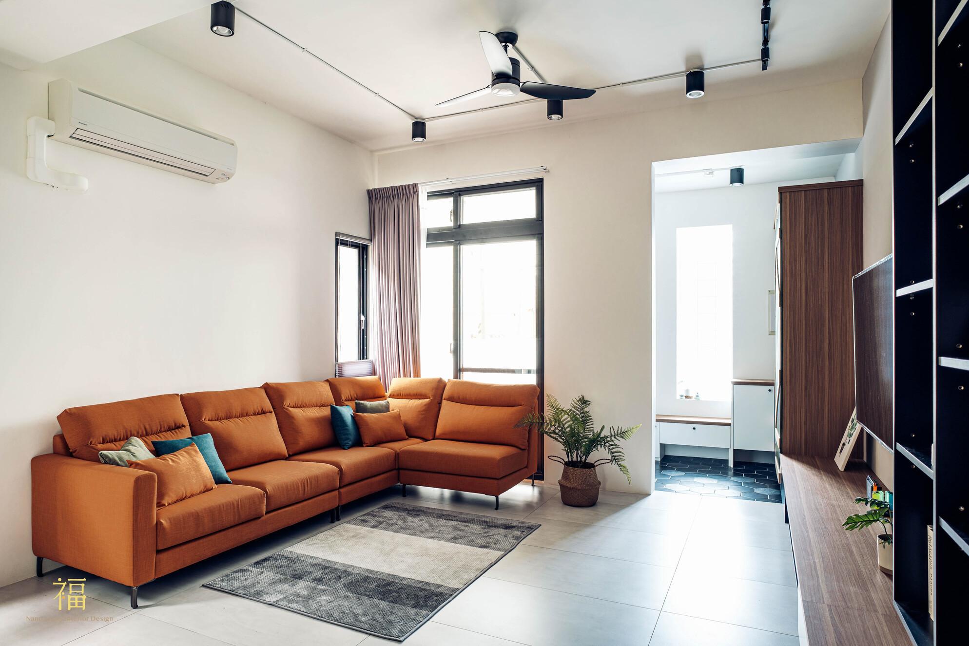 溪口盧宅|現代簡約風客廳|嘉義住宅空間設計