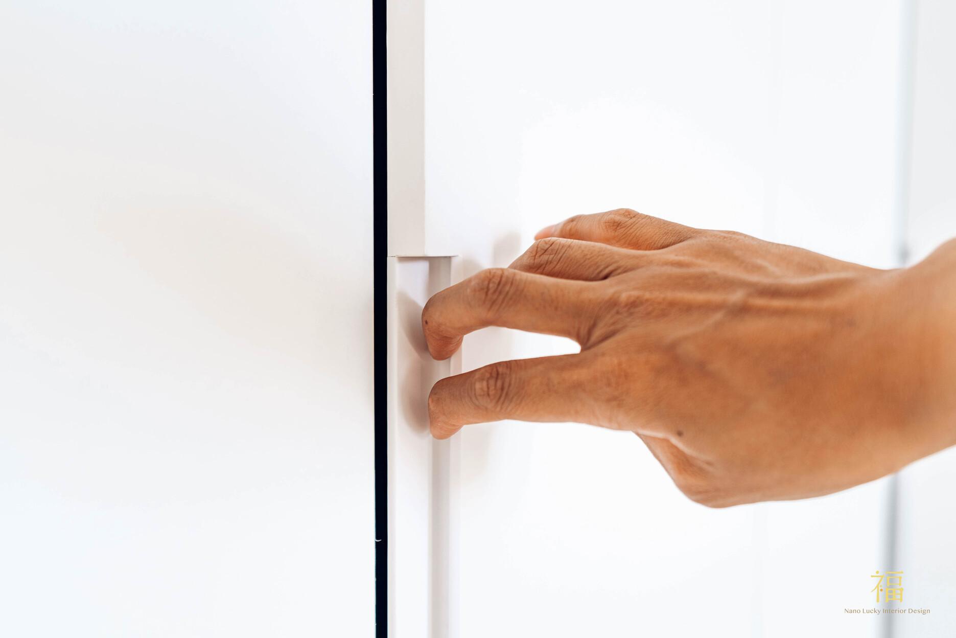 溪口盧宅|系統櫃門片暗把手|嘉義住宅空間設計