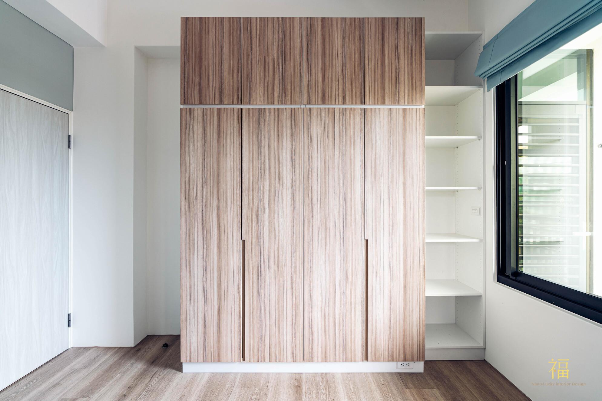 溪口盧宅|臥室系統櫃體設計|嘉義住宅空間設計