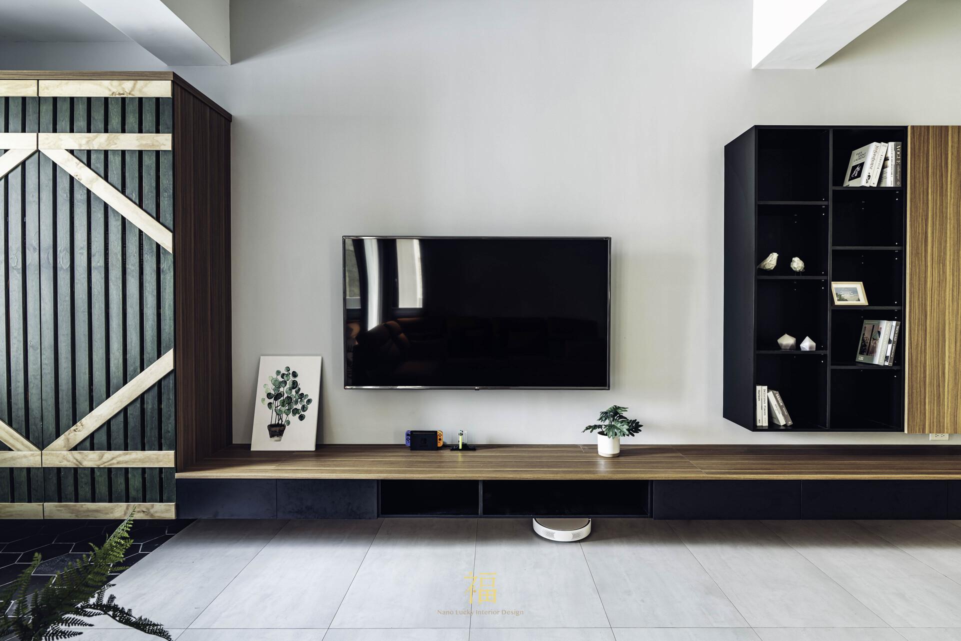 溪口盧宅|電視牆與電視櫃設計規劃|嘉義住宅空間設計