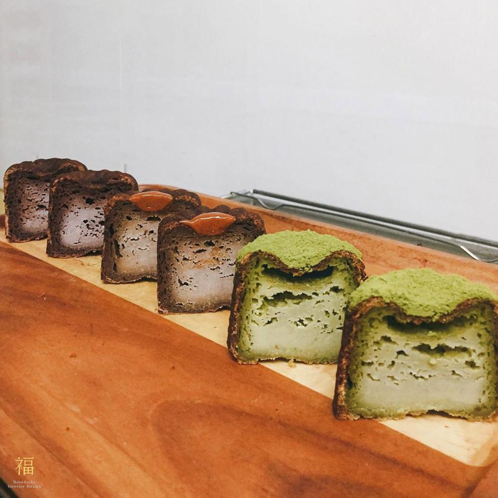 玖零甜食所嘉義可麗露專賣店-橫切面展示|小福砌商業甜點空間設計
