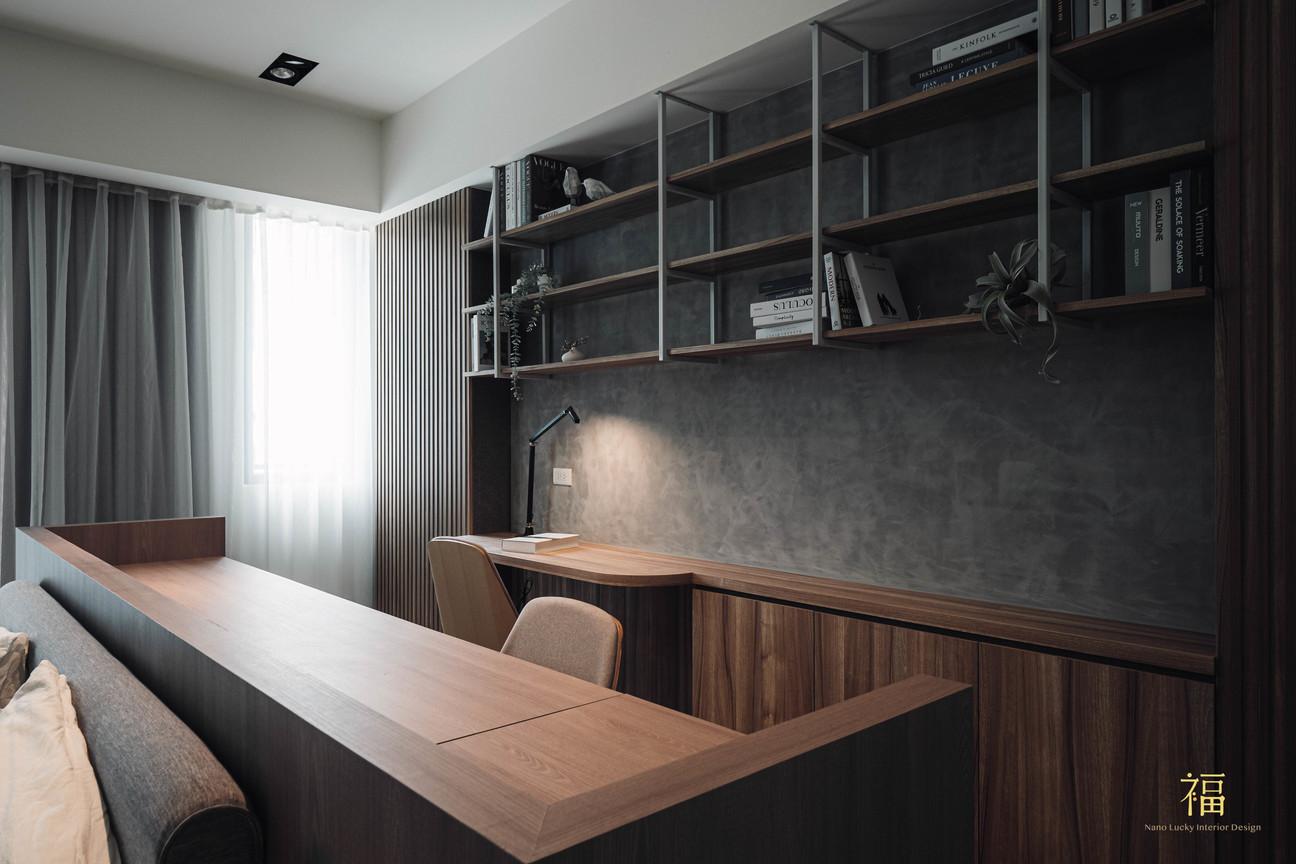 福人居 主臥室書桌層板櫃規劃 嘉義住宅空間設計