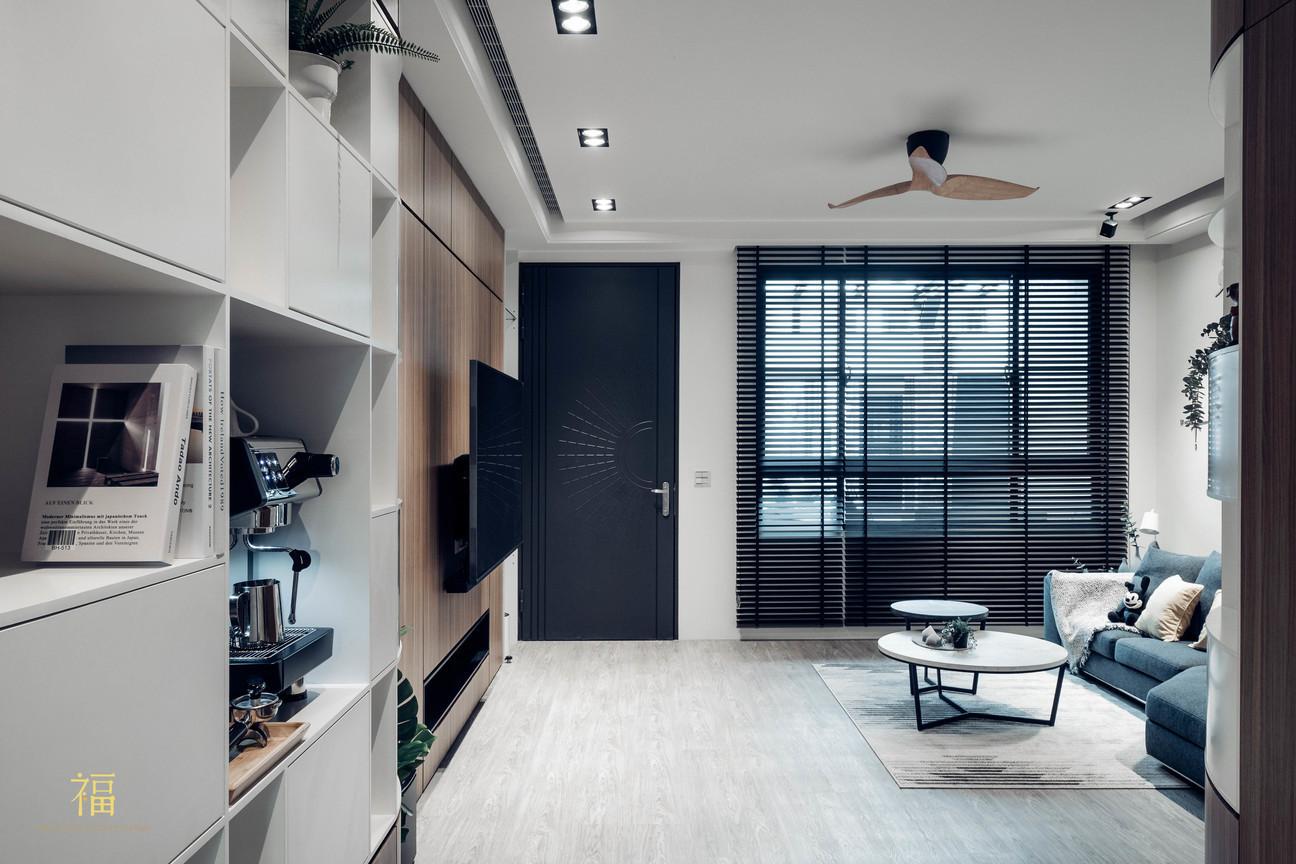 福人居 北歐風格客廳 嘉義住宅空間設計