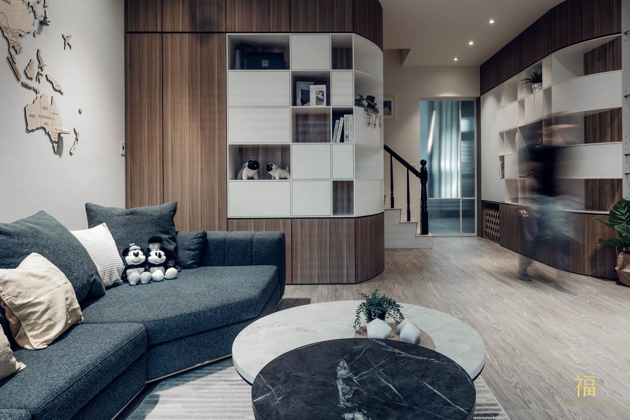 福人居 客廳收納規劃 嘉義住宅空間設計