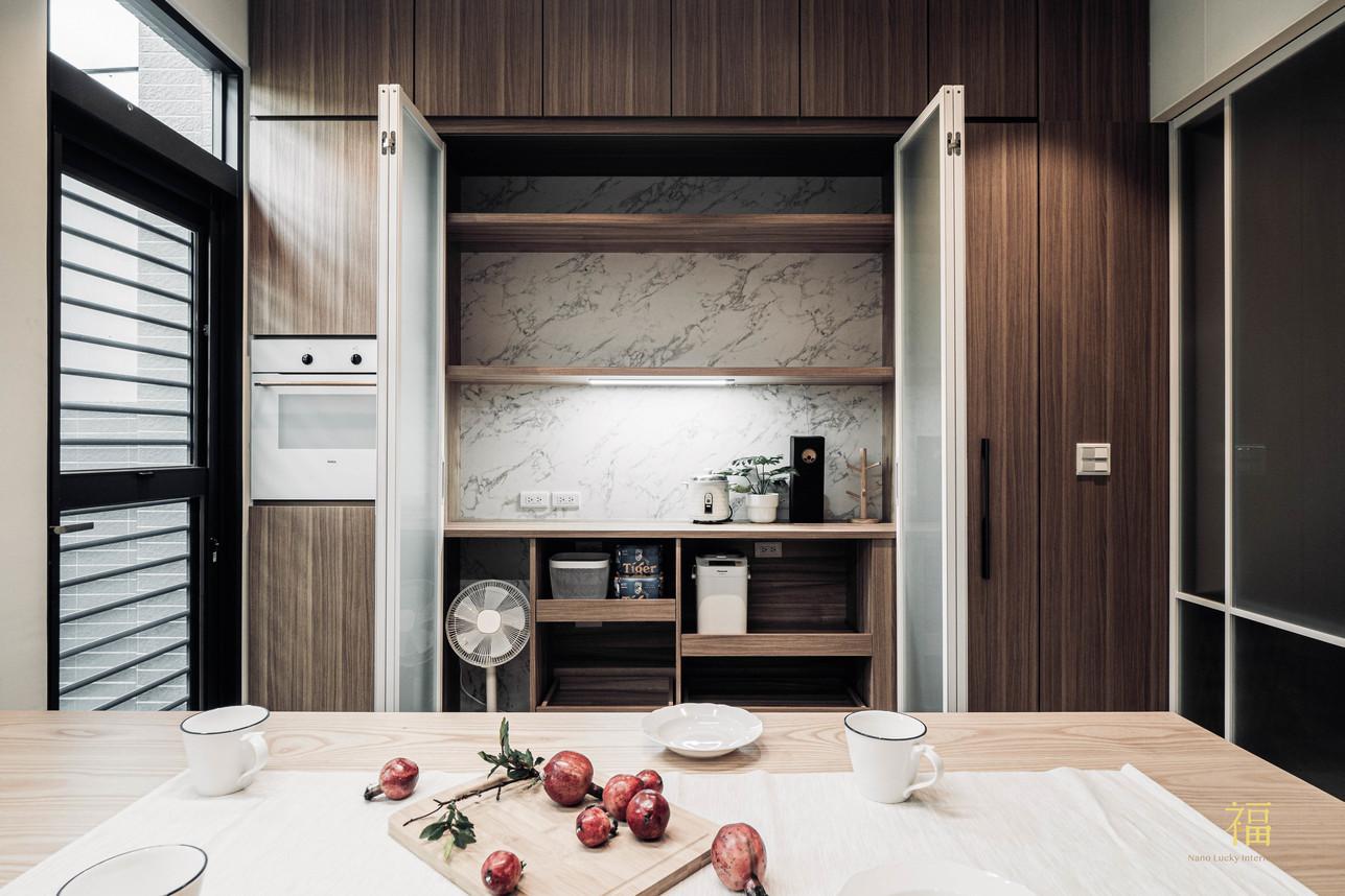福人居 廚房全開隔間 嘉義住宅空間設計
