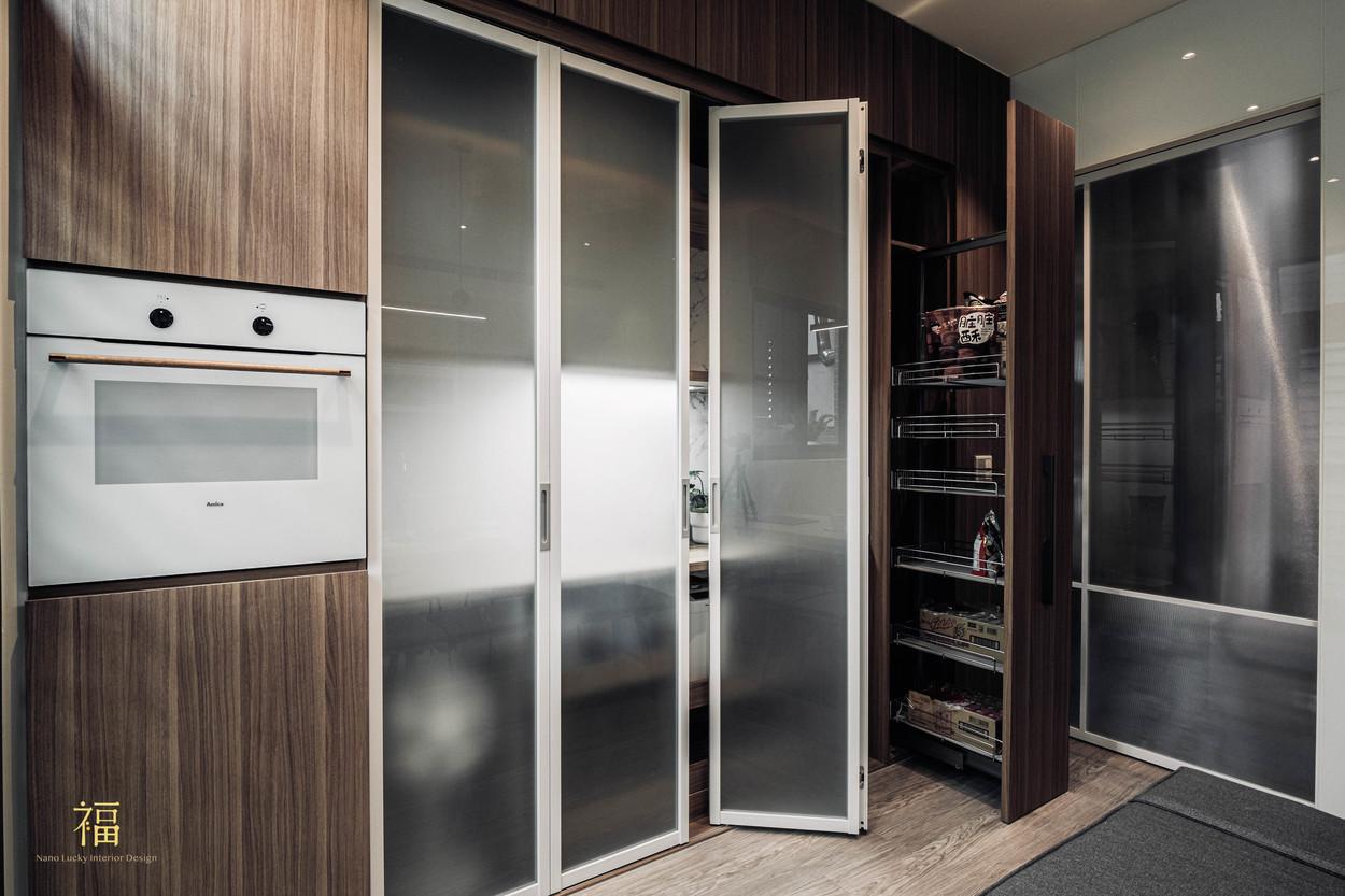 福人居 廚房收納隔間規劃 嘉義住宅空間設計