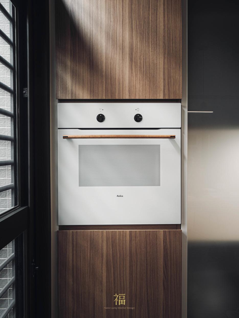 福人居 廚房日系質感電器櫃 嘉義住宅空間設計