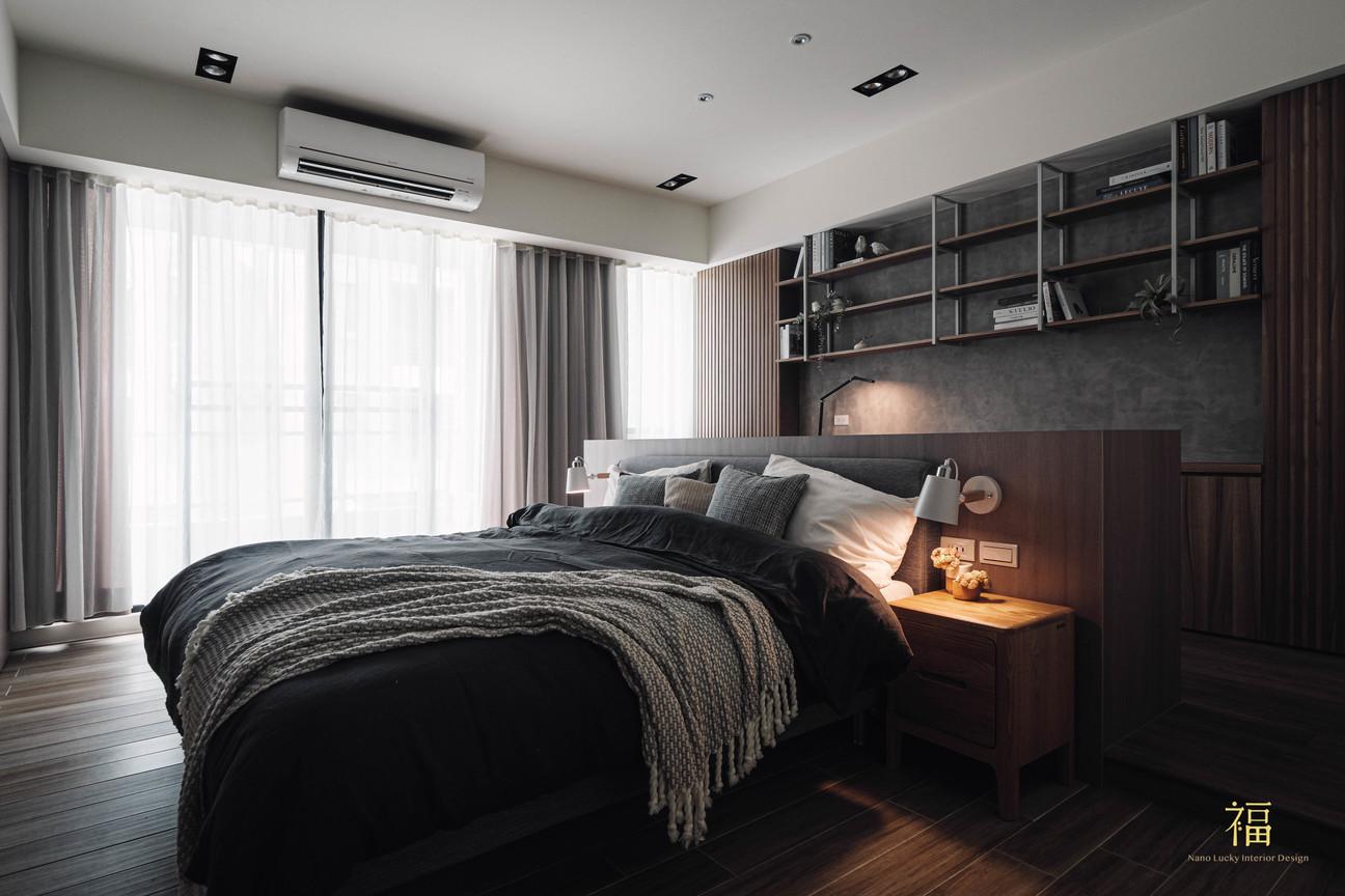 福人居 現代風格主臥室 嘉義住宅空間設計