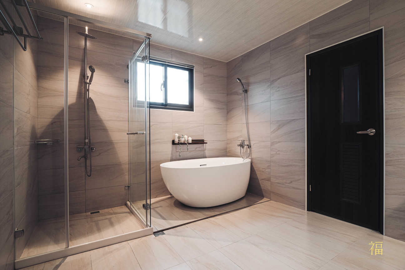 福人居 現代風格浴廁 嘉義住宅空間設計