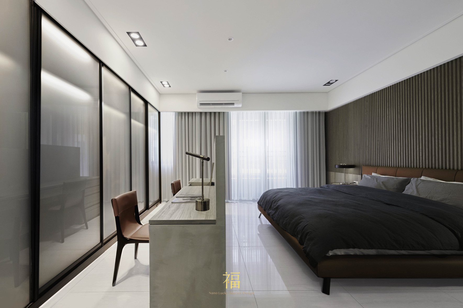 福宅雅居|主臥室空間規劃|嘉義住宅空間設計