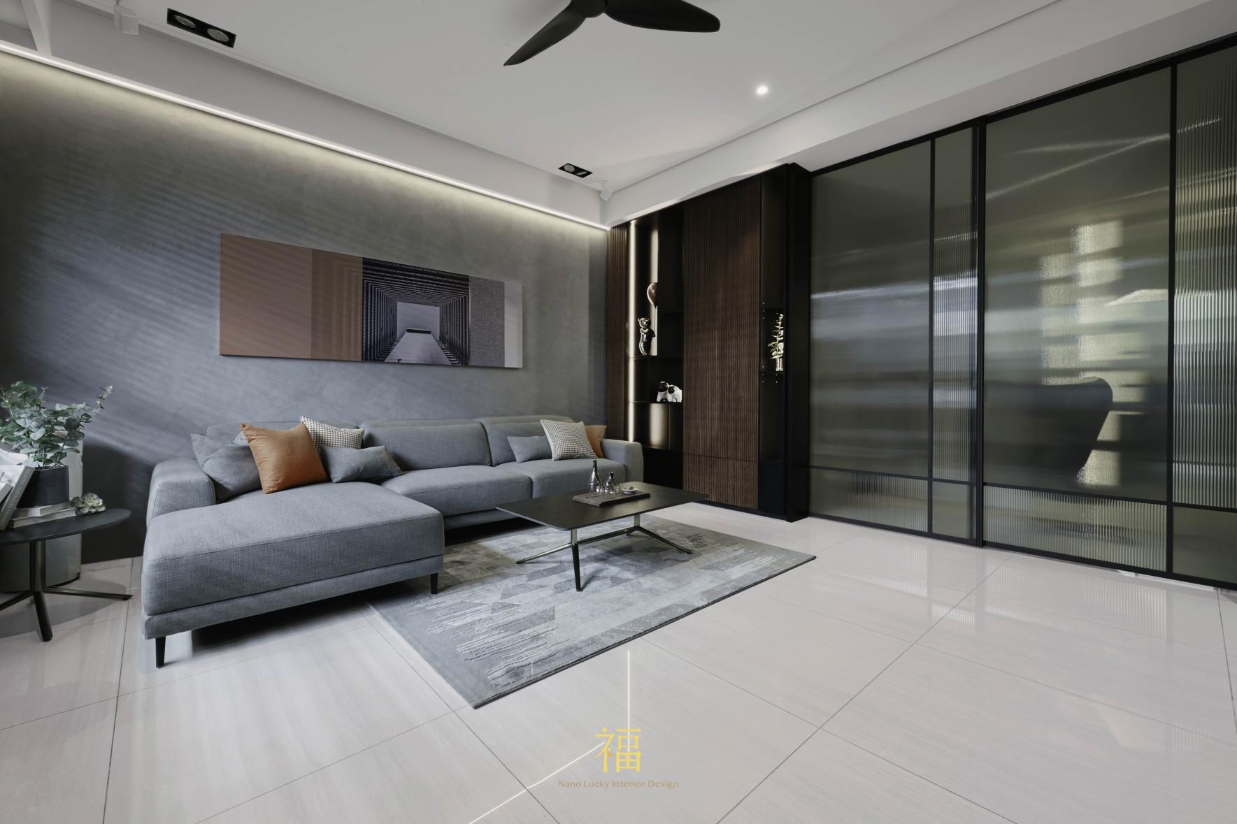 福宅雅居|北歐風客廳空間|嘉義住宅空間設計