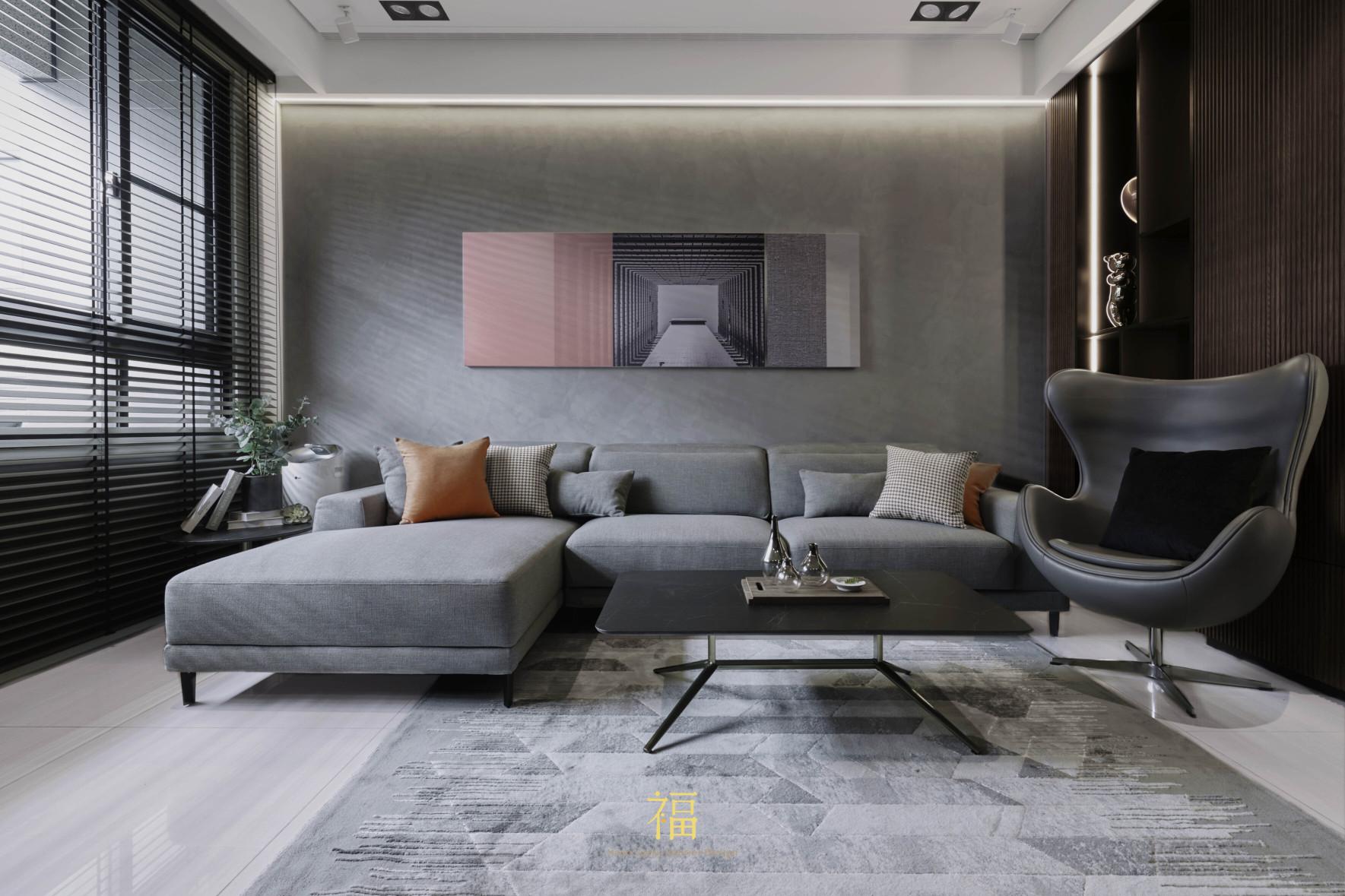 福宅雅居|客廳沙發擺飾|嘉義住宅空間設計