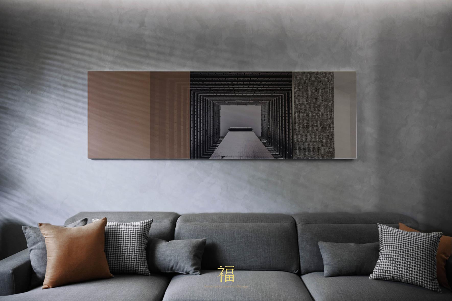 福宅雅居|客廳牆面掛飾|嘉義住宅空間設計