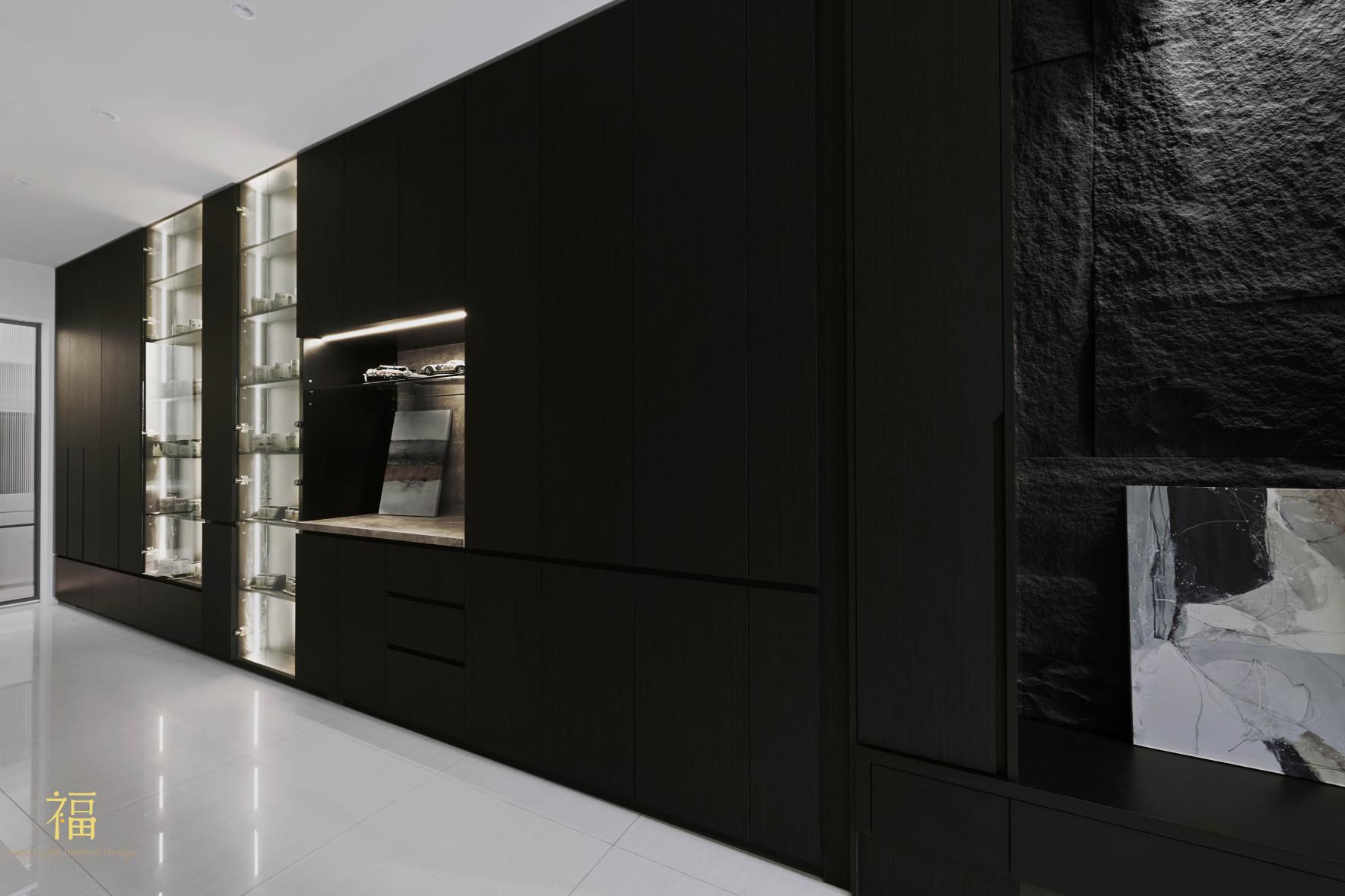 福宅雅居|客廳系統櫥櫃規劃|嘉義住宅空間設計
