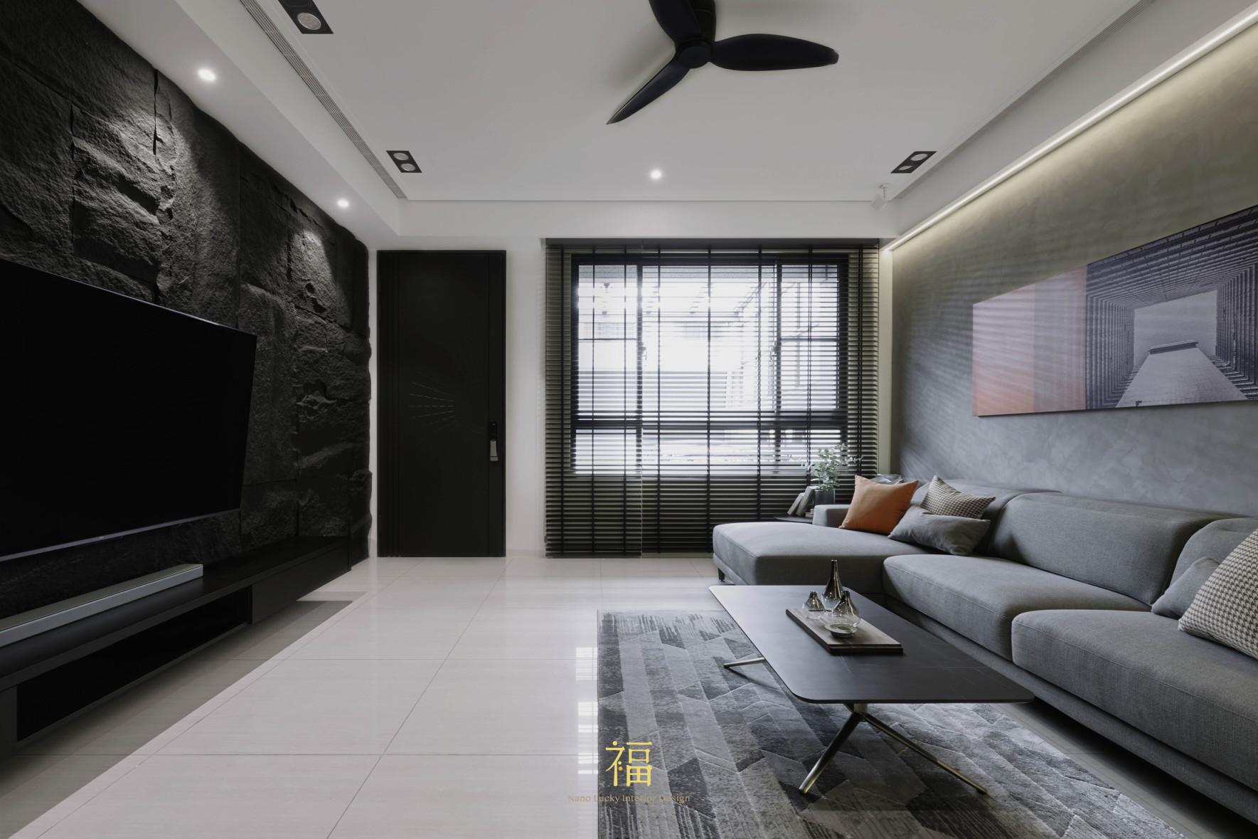 福宅雅居|灰與黑色調搭配|嘉義住宅空間設計