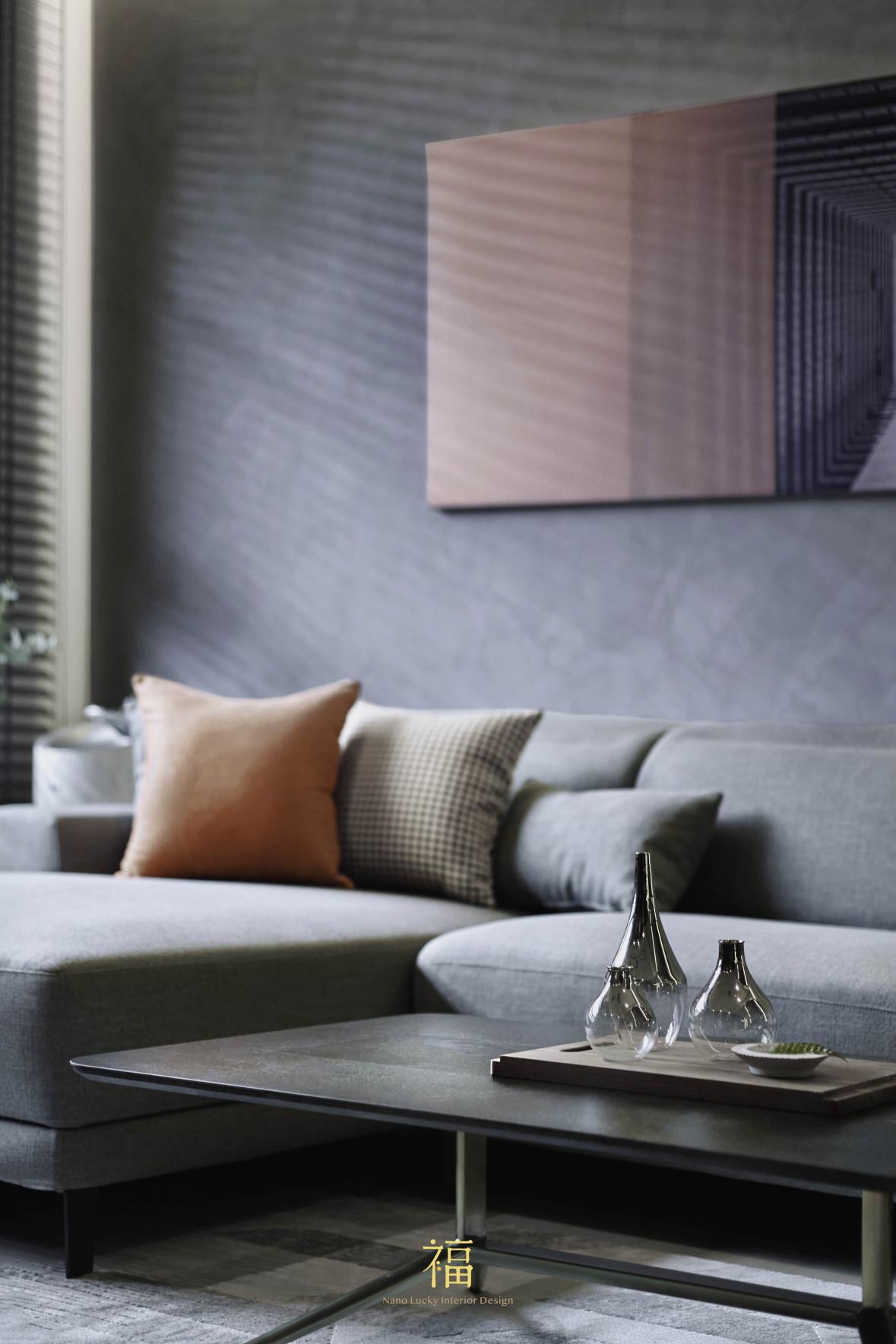 福宅雅居|灰色系客廳空間|嘉義住宅空間設計