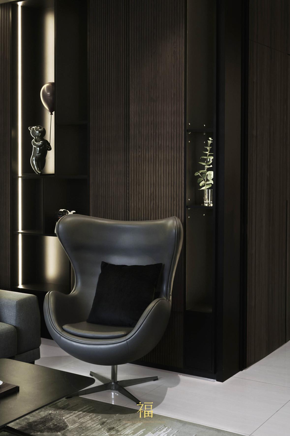 福宅雅居|質感蛋椅家飾|嘉義住宅空間設計