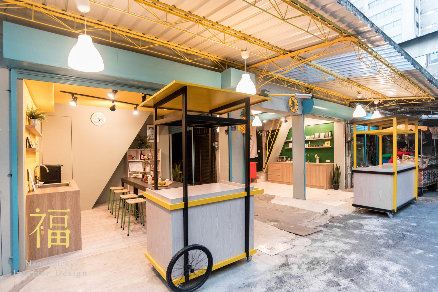 Nanolucky小福砌空間設計-鳳梨會社2.0-商空設計-社區再造-市場學堂