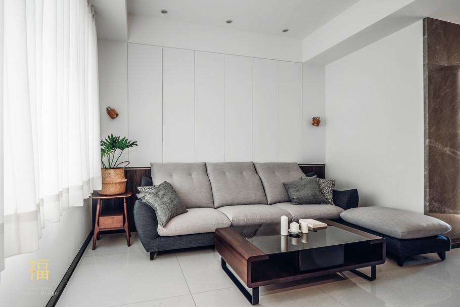 Nanolucky小福砌空間設計-盧森堡林宅-公寓住宅設計-輕奢北歐風-客廳沙發