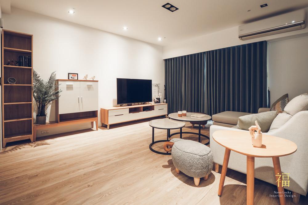 Nanolucky小福砌空間設計-藝術第一家-公寓住宅設計-簡約北歐風-客廳設計