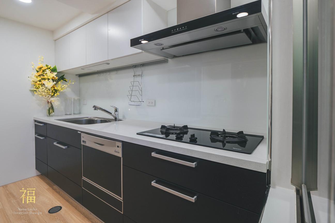 Nanolucky小福砌空間設計-民國路貓貓宅-公寓住宅設計-日系無印風-日製系統廚櫃