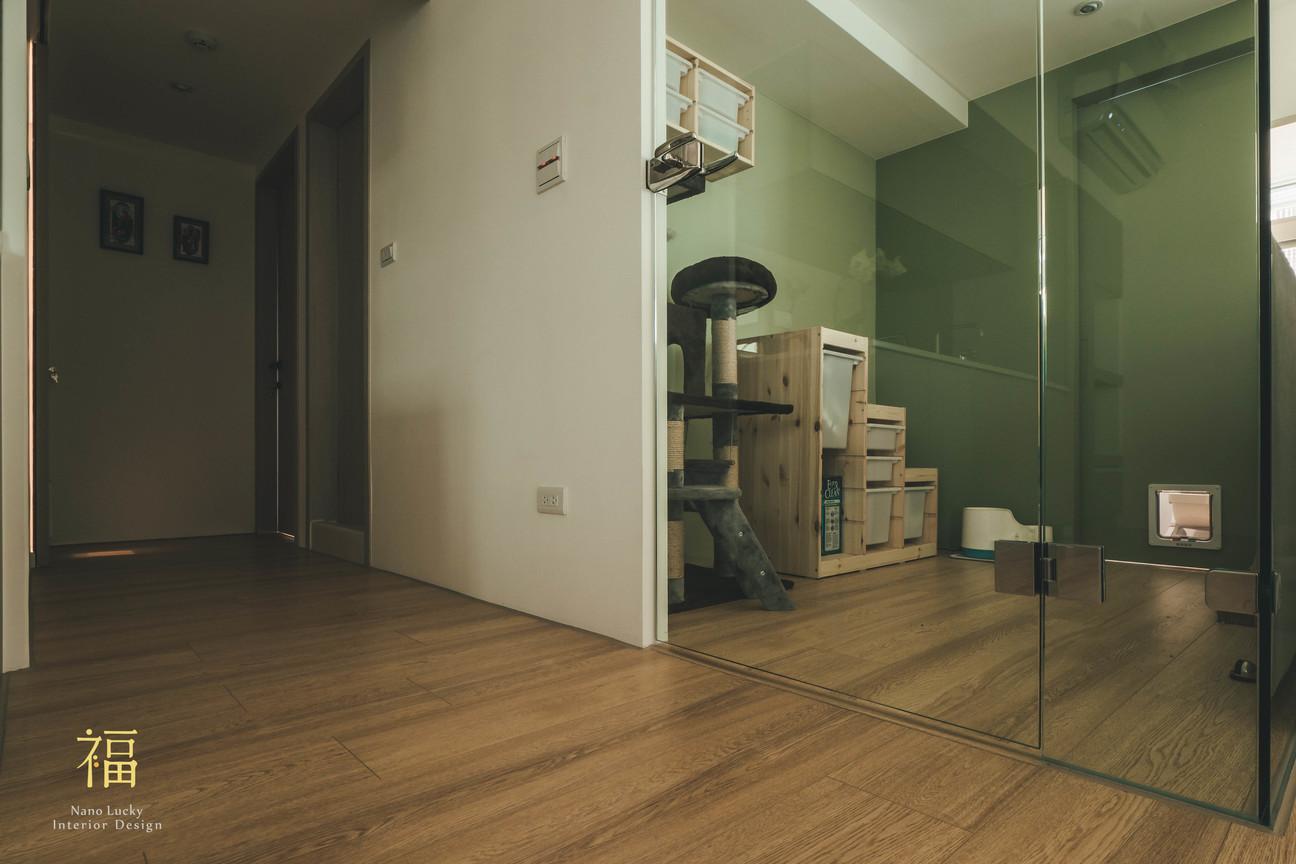 Nanolucky小福砌空間設計-民國路貓貓宅-公寓住宅設計-日系無印風-寵物隔間設計