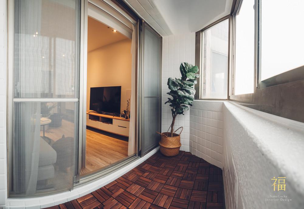 Nanolucky小福砌空間設計-藝術第一家-公寓住宅設計-簡約北歐風-陽台設計