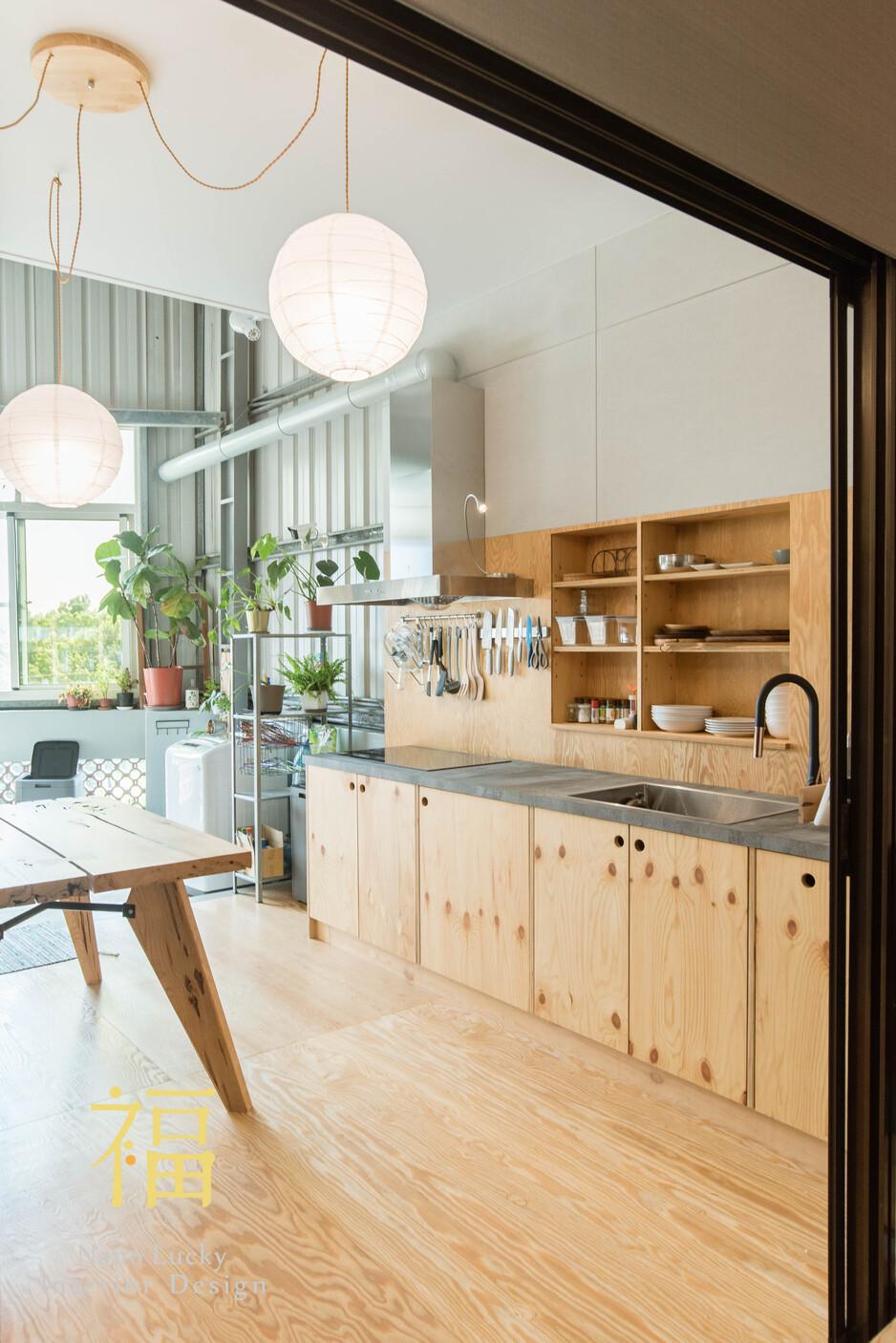 Nanolucky小福砌空間設計-小福砌-透天住宅設計-日系無印風-植栽設置