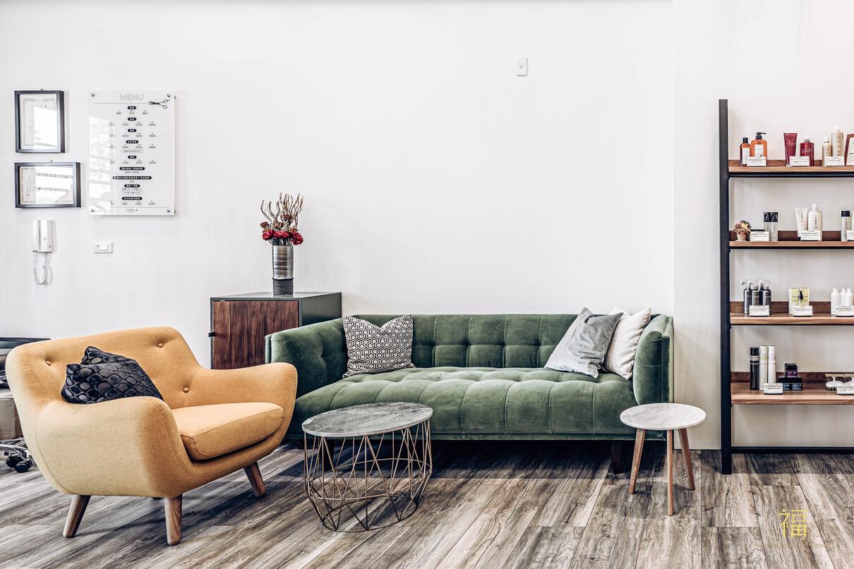 07嘉義太保日系髮廊lislushairsalonstory-沙發休憩區|小福砌商業美髮沙龍空間設計