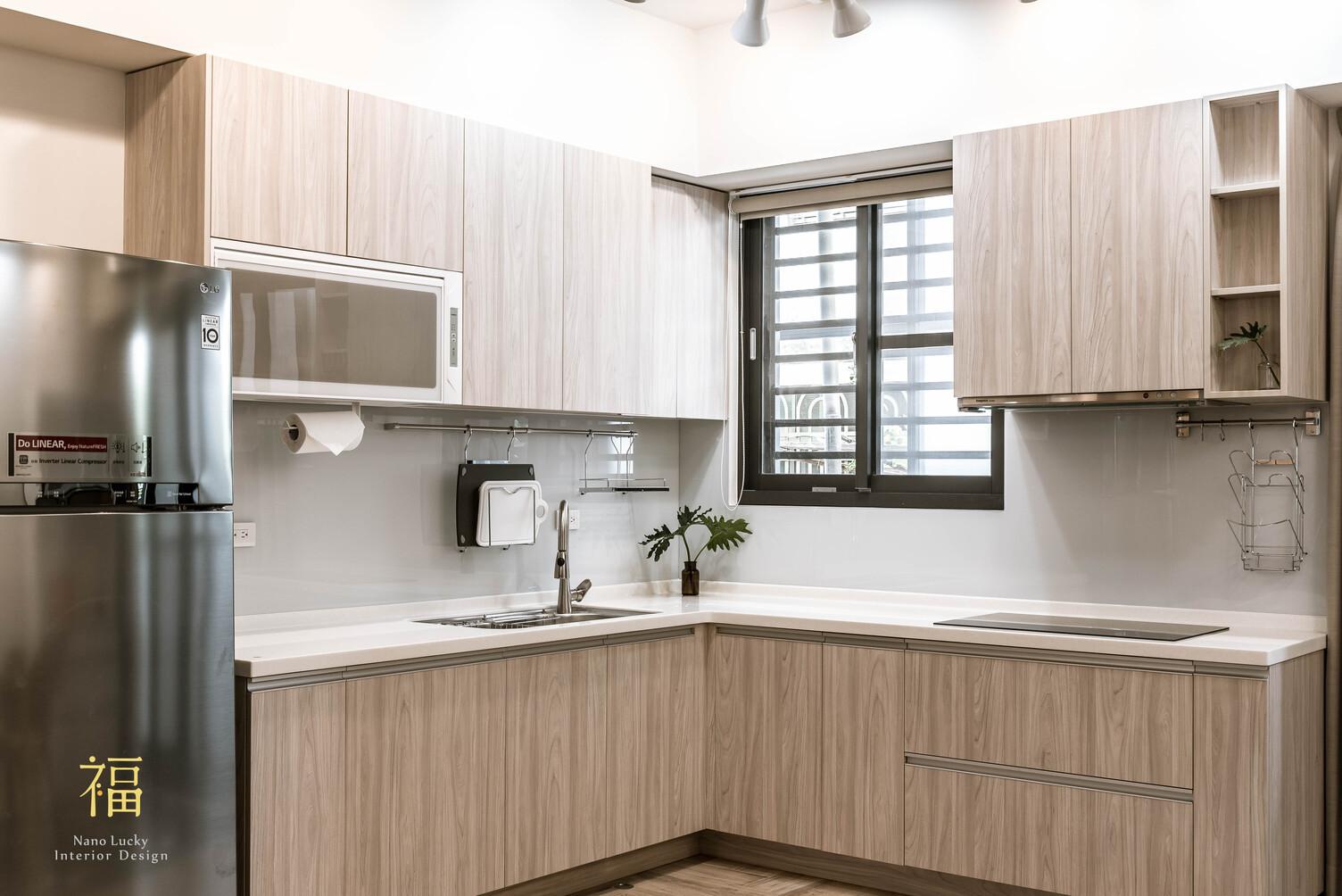 Nanolucky小福砌空間設計-小蘋果之家-住宅設計-現代北歐風-舊屋翻新-廚房系統廚櫃