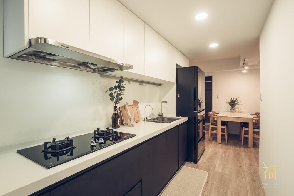 Nanolucky小福砌空間設計-藝術第一家-公寓住宅設計-簡約北歐風-系統廚櫃