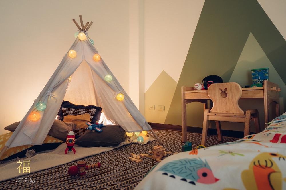 Nanolucky小福砌空間設計-盧森堡林宅-公寓住宅設計-輕奢北歐風-遊戲營帳