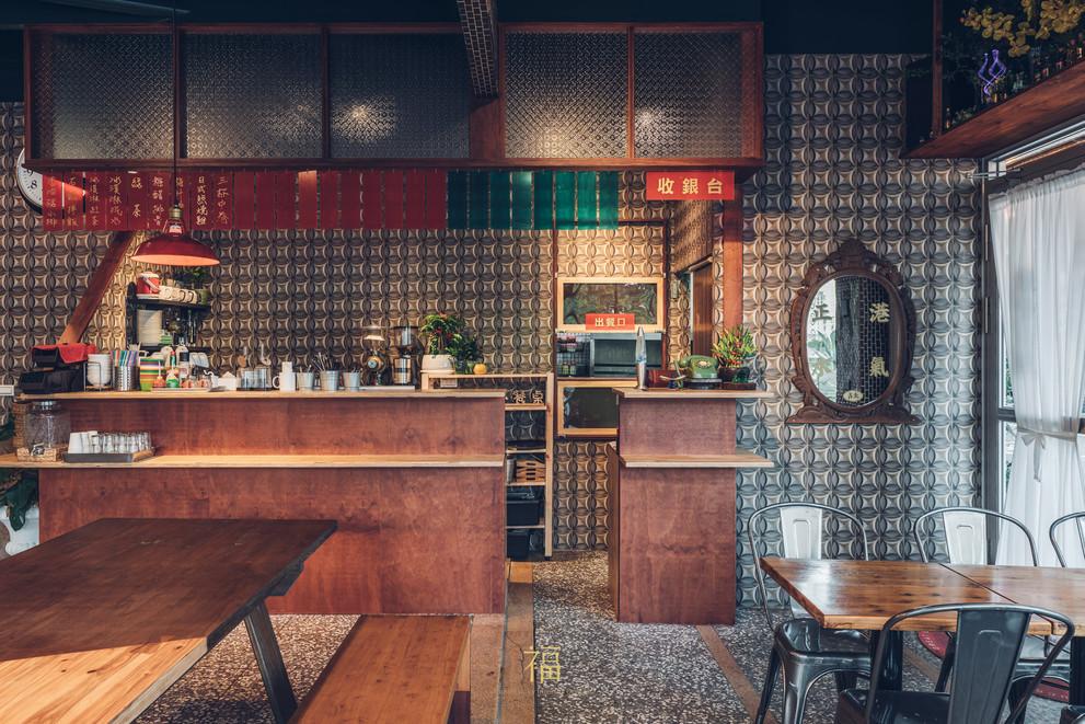 10嘉義東區復古風台式簡餐-弄來小餐桌-收銀區|小福砌餐飲空間設計