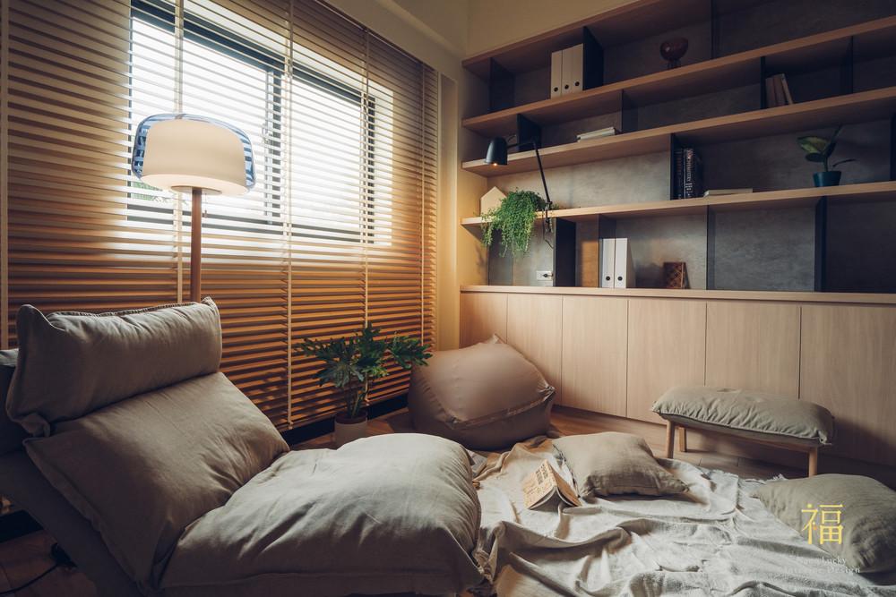 Nanolucky小福砌空間設計-盧森堡林宅-公寓住宅設計-日系無印風-書房設計
