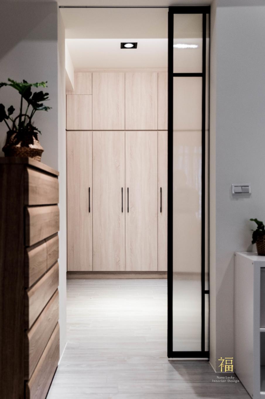 Nanolucky小福砌空間設計-敦煌五期A2-透天住宅設計-簡約北歐風-更衣間系統收納