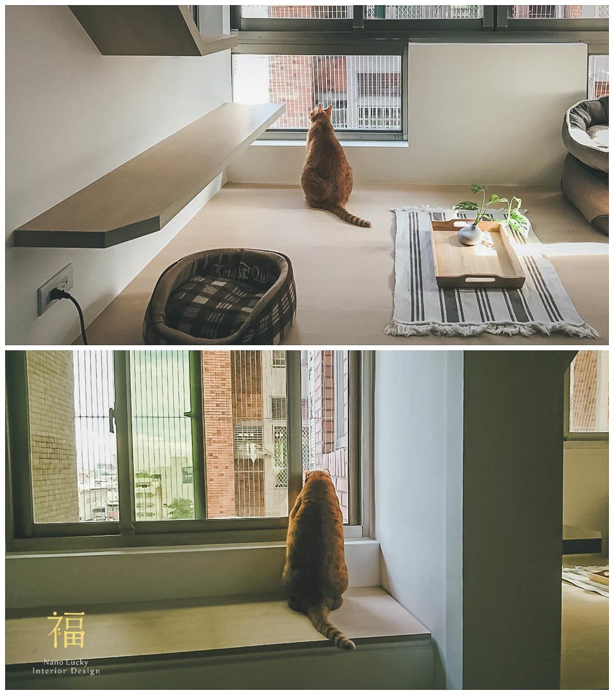 Nanolucky小福砌空間設計-民國路貓貓宅-公寓住宅設計-日系無印風-貓道設計