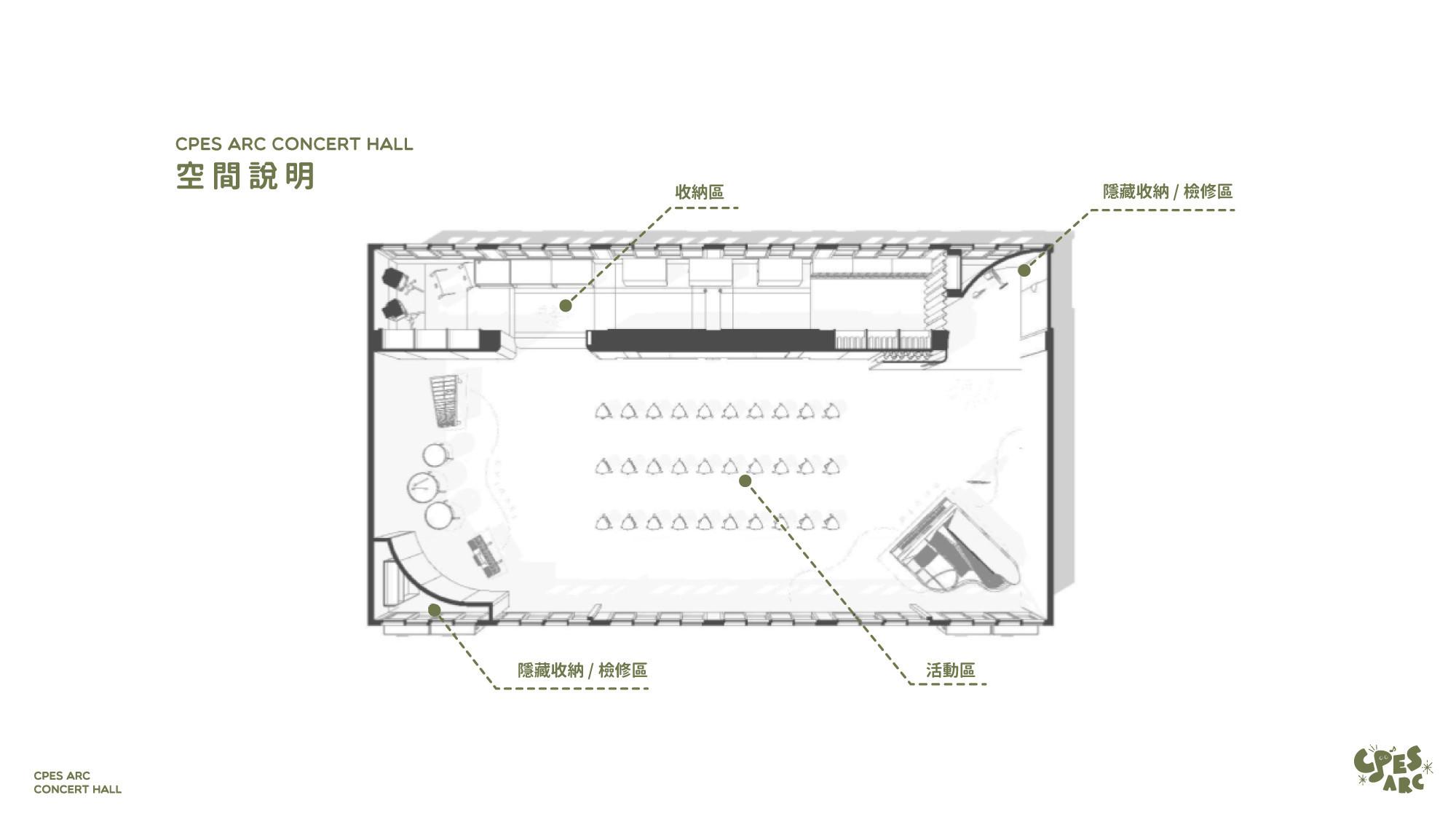 arc音樂廳設計平面圖