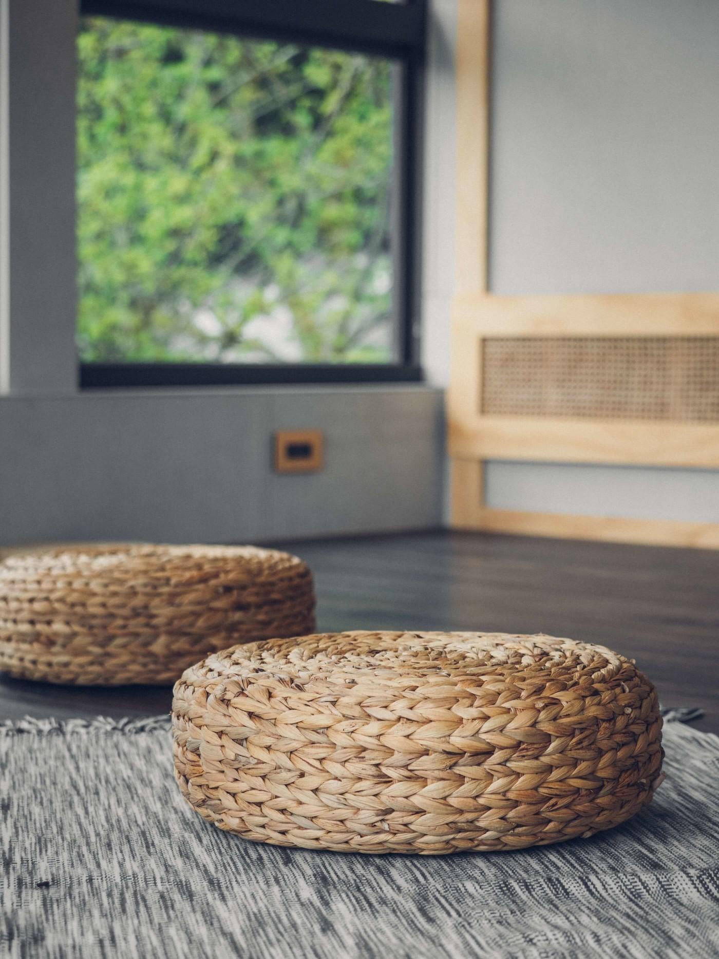 阿里山樟樹湖山角鐵茶屋蓆編坐墊
